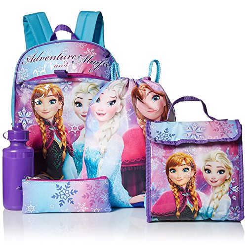 アナと雪の女王 アナ雪 ディズニープリンセス フローズン FZ29426-SC-BL00 Disney Girls' Frozen 5 Pc Set Backpack, purpleアナと雪の女王 アナ雪 ディズニープリンセス フローズン FZ29426-SC-BL00
