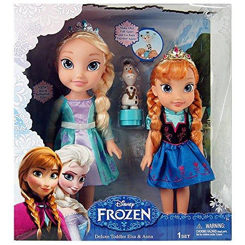アナと雪の女王 アナ雪 ディズニープリンセス フローズン Jakks Pacific Disney Frozen Deluxe Toddler Elsa and Anna Dollsアナと雪の女王 アナ雪 ディズニープリンセス フローズン