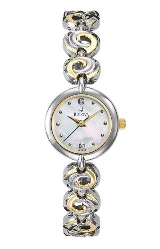 ブローバ 腕時計 レディース 98P003 【送料無料】Bulova Women's 98P003 Diamond Dial Watchブローバ 腕時計 レディース 98P003