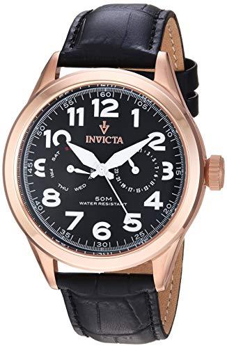 インヴィクタ インビクタ 腕時計 メンズ 11742 【送料無料】Invicta Men's 11742 Vintage Master Rose Gold-Tone Stainless Steel Watch with Black Leather Bandインヴィクタ インビクタ 腕時計 メンズ 11742