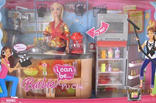 バービー バービー人形 バービーキャリア バービーアイキャンビー 職業 【送料無料】Barbie I Can Be ... TV Chef Playset w Working Mix Master, Work Station Counter w Sink, TV Studio Cバービー バービー人形 バービーキャリア バービーアイキャンビー 職業