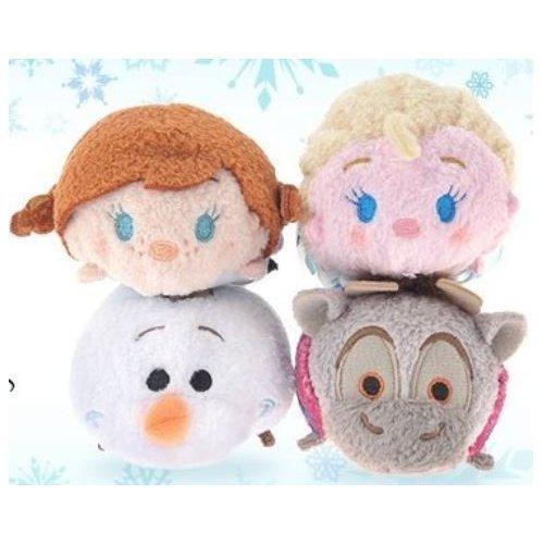 アナと雪の女王 アナ雪 ディズニープリンセス フローズン 【送料無料】Disney Frozen Tsum Tsum Set of 4 Frozen Mini 3.5