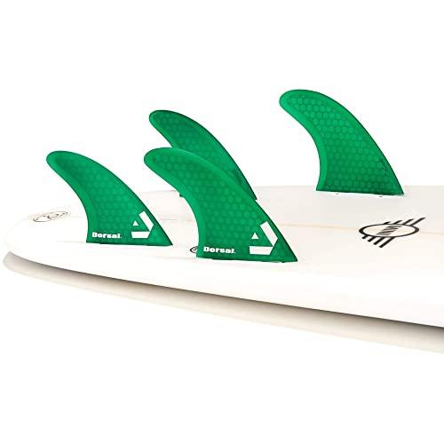 サーフィン フィン マリンスポーツ VENTRAL-HS5-FC4-Green Dorsal Surfboard Fins Hexcore Quad Set (4) Honeycomb FCS Base Greenサーフィン フィン マリンスポーツ VENTRAL-HS5-FC4-Green