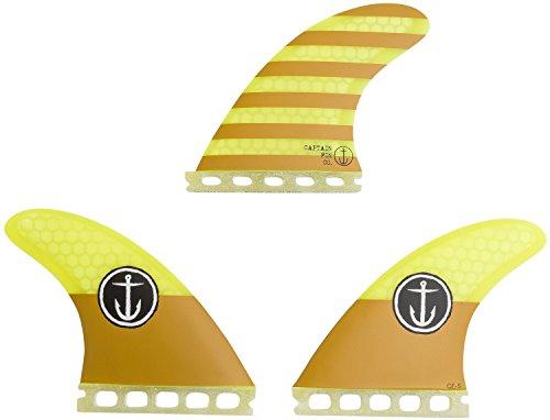 サーフィン フィン マリンスポーツ CFF2111500 【送料無料】Captain Fin Co Small Surf Fins Single Tab Yellow 3サーフィン フィン マリンスポーツ CFF2111500