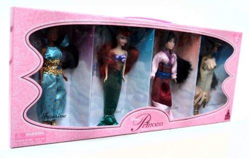 ディズニープリンセス 【送料無料】Disney Princess Exclusive 6 1/2 Inch Doll Figure 4Pack Jasmine, Ariel, Mulan Pocahontasディズニープリンセス