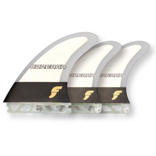 サーフィン フィン マリンスポーツ Coreban Future Fins Edition Stand Up Paddle Board SUP 2 + 1 Fin Set (Wood Grain)サーフィン フィン マリンスポーツ