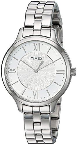 タイメックス 腕時計 レディース TW2R282009J Timex Women's TW2R28200 Peyton Silver-Tone Stainless Steel Bracelet Watchタイメックス 腕時計 レディース TW2R282009J