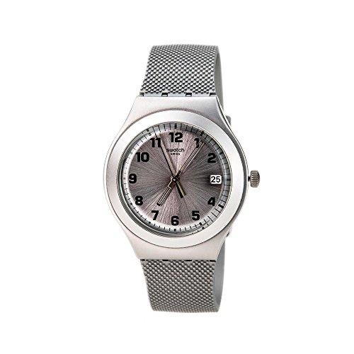 スウォッチ 腕時計 レディース 夏の腕時計特集 YGS4032 【送料無料】Swatch Silver Effect Grey Silicone Ladies Watch YGS4032スウォッチ 腕時計 レディース 夏の腕時計特集 YGS4032