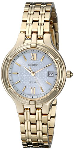 セイコー 腕時計 レディース SUT018 Seiko Women's SUT018 White Dial Gold-Tone Stainless Steel Watchセイコー 腕時計 レディース SUT018