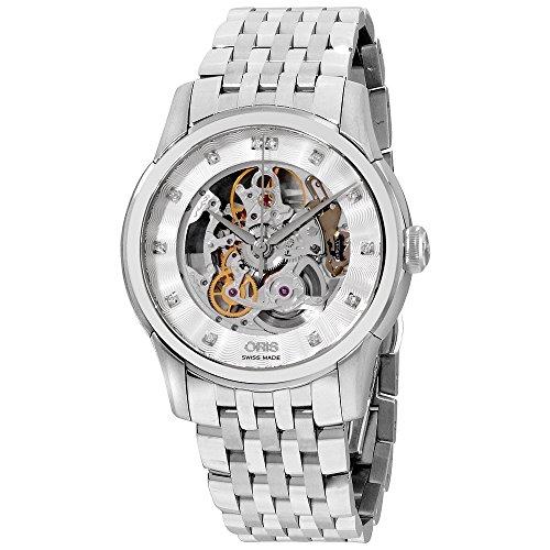 オリス 腕時計 メンズ 【送料無料】Oris Artelier Silver Dial Stainless Steel Men's Watch 73476704019MBオリス 腕時計 メンズ