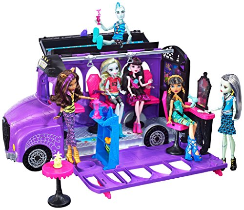 モンスターハイ 人形 ドール FCV63 Mattel - Monster High - FCV63 - Deluxe Bus and Mobile Salon Toy Playset - Pedicure Station Pool - Fashion Dollモンスターハイ 人形 ドール FCV63