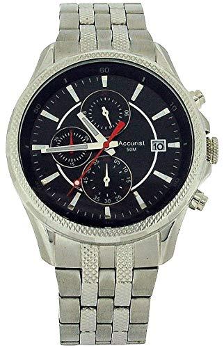 アキュリスト 腕時計 メンズ イギリス ロンドン Accurist Gents Chronograph Date All Stainless Steel Bracelet Strap Watch MB935Bアキュリスト 腕時計 メンズ イギリス ロンドン