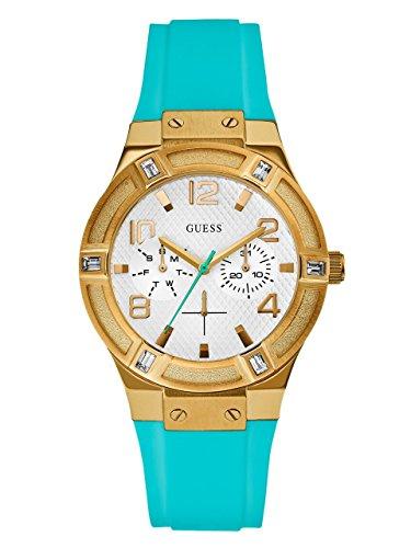 腕時計 ゲス GUESS レディース U0564L3 【送料無料】Guess U0564L3 White Dial Turquoise Silicone Strap Women's Watch腕時計 ゲス GUESS レディース U0564L3