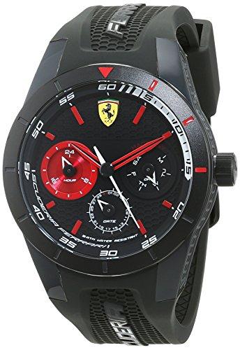フェラーリ 腕時計 メンズ 0830439 Ferrari RedRev T Black Dial Mens Multifunction Watch 830439フェラーリ 腕時計 メンズ 0830439