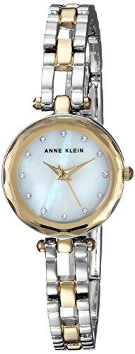アンクライン 腕時計 レディース AK/3121MPTT Anne Klein Women's Swarovski Crystal Accented Two-Tone Open Bracelet Watchアンクライン 腕時計 レディース AK/3121MPTT