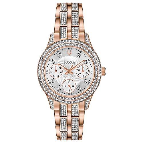 ブローバ 腕時計 レディース 98N113 【送料無料】Bulova Women's Swarovski Crystal Quartz Watch with Stainless-Steel Strap, Rose Gold, 16 (Model: 98N113)ブローバ 腕時計 レディース 98N113