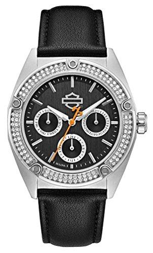 ブローバ 腕時計 レディース 76N102 【送料無料】Harley-Davidson Women's Crystal Embellished Stainless Steel Case Watch 76N102ブローバ 腕時計 レディース 76N102