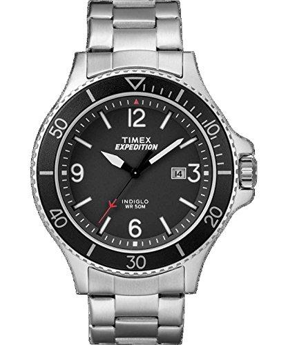 タイメックス 腕時計 レディース Timex Expedition Ranger Stainless Steel Watch - Blackタイメックス 腕時計 レディース