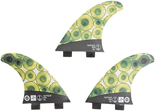 サーフィン フィン マリンスポーツ CFF3111602 Captain Fin Co. Chemistry Carbon Cells Surfboard Fins | 3 Fin Set | Twin Tab | Greenサーフィン フィン マリンスポーツ CFF3111602