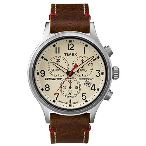 タイメックス 腕時計 メンズ TW4B04300JV Timex Expedition Scout Chronograph Leather Watch - Brown Dialタイメックス 腕時計 メンズ TW4B04300JV