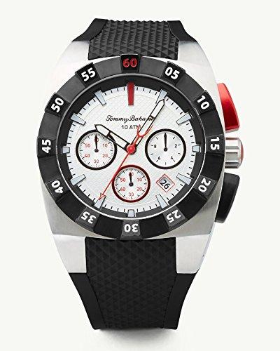"""トミーバハマ 腕時計 メンズ アメカジ アメリカ TB00008-01 【送料無料】Tommy Bahama Men""""s Stainless Steel Quartz Watch with Rubber Strap, Black, 28 (Model: TB00008-01)トミーバハマ 腕時計 メンズ アメカジ アメリカ TB00008-01"""