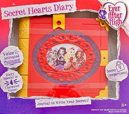 エバーアフターハイ 人形 ドール EVER AFTER HIGH Journal SECRET HEARTS DIARY w 4 Character Voices, VOICE Activated PASSWORD, & Secret Compartment (2015)エバーアフターハイ 人形 ドール