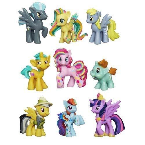 マイリトルポニー ハズブロ hasbro、おしゃれなポニー かわいいポニー ゆめかわいい My Little Pony Friendship Is Magic Minis Set of 9 - Daring Pony Story, Ponyville Newsmaker &マイリトルポニー ハズブロ hasbro、おしゃれなポニー かわいいポニー ゆめかわいい