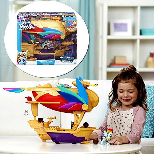 マイリトルポニー ハズブロ hasbro、おしゃれなポニー かわいいポニー ゆめかわいい My Little Pony: The Movie - Rainbow Dash - Swashbuckler Pirate Airship - Includes Vehicle, Rマイリトルポニー ハズブロ hasbro、おしゃれなポニー かわいいポニー ゆめかわいい