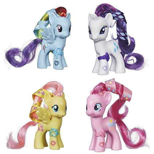 マイリトルポニー ハズブロ hasbro、おしゃれなポニー かわいいポニー ゆめかわいい My Little Pony Cutie Mark Magic Rainbow Dash, Rarity, Pinkie Pie & Fluttershy Set of 4 Pony マイリトルポニー ハズブロ hasbro、おしゃれなポニー かわいいポニー ゆめかわいい