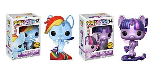 マイリトルポニー ハズブロ hasbro、おしゃれなポニー かわいいポニー ゆめかわいい 【送料無料】Funko POP! My Little Pony Movie: Rainbow Dash Sea Pony CHASE and Twilight マイリトルポニー ハズブロ hasbro、おしゃれなポニー かわいいポニー ゆめかわいい
