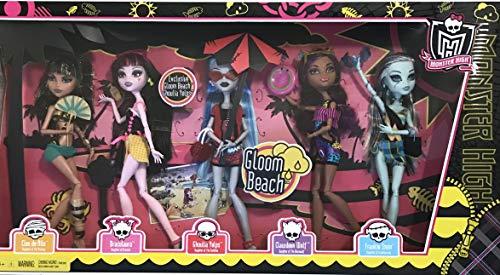 モンスターハイ 人形 ドール 【送料無料】Monster High GLOOM BEACH 5 DOLL SET w EXCLUSIVE GHOULIA YELPS, Draculaura, Cleo de Nile, Clawdeen Wolf & Frankie Stein (2011)モンスターハイ 人形 ドール