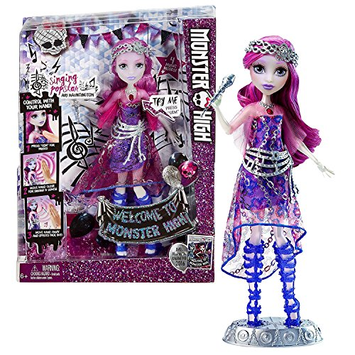 モンスターハイ 人形 ドール Mattel Year 2015 Welcome to Monster High Series 11 Inch Tall Electronic Doll Set - ARI HAUNTINGTON DNX66 with 4 Music Modes, Microphone and Display Baseモンスターハイ 人形 ドール