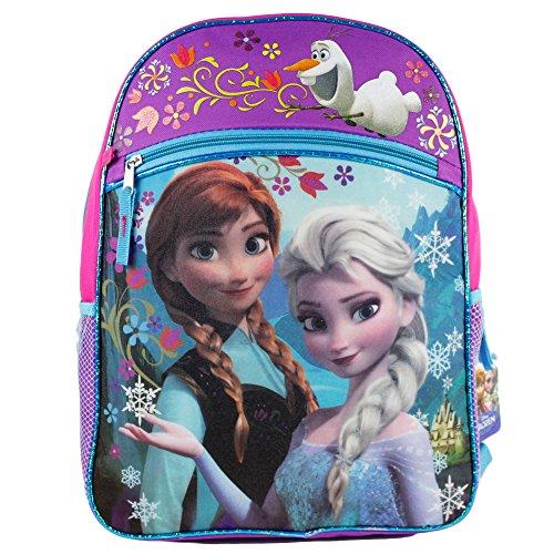 アナと雪の女王 アナ雪 ディズニープリンセス フローズン fccf03za-tru Disney Frozen Girl's Large Backpack - Pink and Purple with Blue Trimアナと雪の女王 アナ雪 ディズニープリンセス フローズン fccf03za-tru