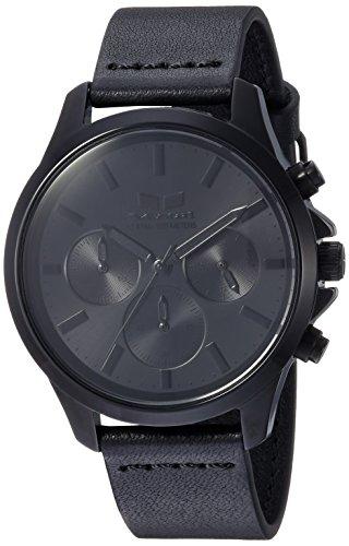 ベスタル ヴェスタル 腕時計 メンズ HEI39CL06.BK Vestal Heirloom Chrono Leather Stainless Steel Japanese-Quartz Watch with Strap, Black, 18 (Model: HEI39CL06.BK)ベスタル ヴェスタル 腕時計 メンズ HEI39CL06.BK