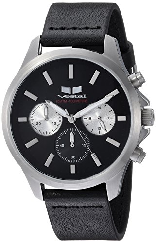 ベスタル ヴェスタル 腕時計 メンズ HEI39CL04.BK Vestal Heirloom Chrono Leather Stainless Steel Japanese-Quartz Watch with Strap, Black, 18 (Model: HEI39CL04.BKベスタル ヴェスタル 腕時計 メンズ HEI39CL04.BK