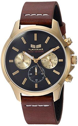 ベスタル ヴェスタル 腕時計 メンズ HEI39CL01.LBWH Vestal Heirloom Chrono Leather Stainless Steel Japanese-Quartz Watch Strap, Brown, 18 (Model: HEI39CL01.LBWH)ベスタル ヴェスタル 腕時計 メンズ HEI39CL01.LBWH
