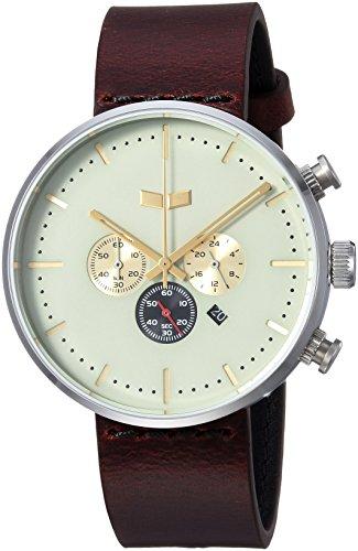 ベスタル ヴェスタル 腕時計 メンズ RSC42L01.CVBK Vestal Roosevelt Chrono Leather Stainless Steel Quartz Watch Strap, Brown, 20 (Model: RSC42L01.CVBK)ベスタル ヴェスタル 腕時計 メンズ RSC42L01.CVBK