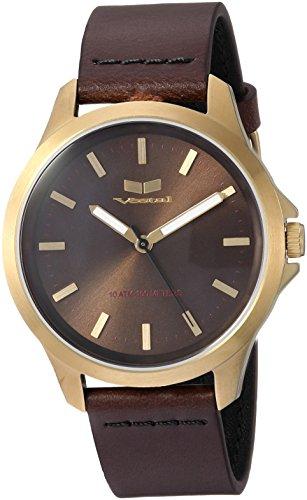 ベスタル ヴェスタル 腕時計 レディース HEI393L12.DBBK 【送料無料】Vestal Stainless Steel Analog-Quartz Watch with Leather Strap, Brown, 18 (Model: HEI393L12.DBBK)ベスタル ヴェスタル 腕時計 レディース HEI393L12.DBBK