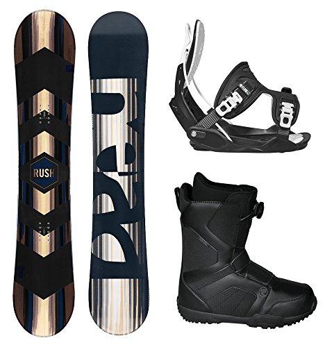 スノーボード ウィンタースポーツ フロウ 2017年モデル2018年モデル多数 HEAD 2018 RUSH Men's Complete Snowboard Package Bindings BOA Boots - Board Size 156 WIDE (Boot Size 13)スノーボード ウィンタースポーツ フロウ 2017年モデル2018年モデル多数
