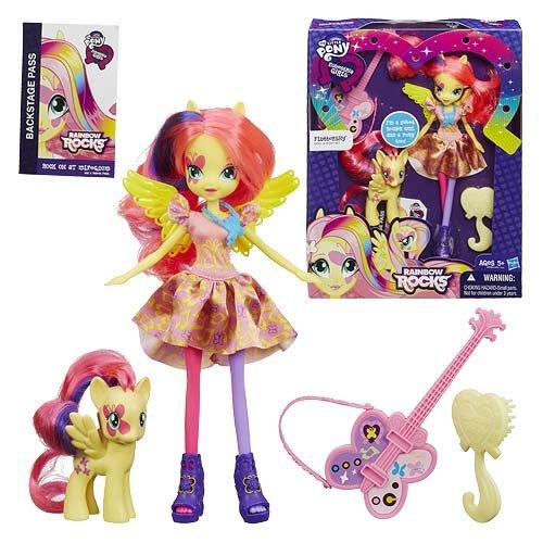 マイリトルポニー ハズブロ hasbro、おしゃれなポニー かわいいポニー ゆめかわいい My Little Pony Equestria Girls Rainbow Rocks Fluttershy Doll with Ponyマイリトルポニー ハズブロ hasbro、おしゃれなポニー かわいいポニー ゆめかわいい