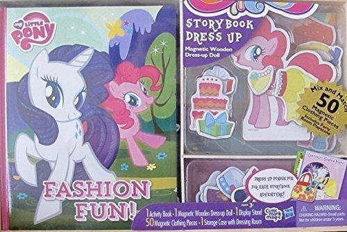 マイリトルポニー ハズブロ hasbro、おしゃれなポニー かわいいポニー ゆめかわいい My Little Pony Hasbro Activity Storybook & Dress Up Magnetic Wooden Pinkie Pie Pony Doll, Stマイリトルポニー ハズブロ hasbro、おしゃれなポニー かわいいポニー ゆめかわいい