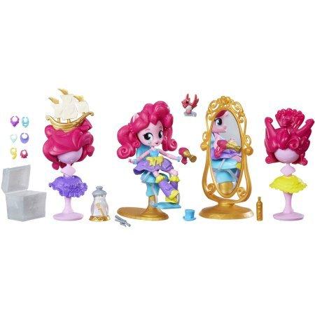 マイリトルポニー ハズブロ hasbro、おしゃれなポニー かわいいポニー ゆめかわいい My Little Pony Equestria Girls Minis Pinkie Pie Switch-a-Do Salon Set, Comes with a Poseableマイリトルポニー ハズブロ hasbro、おしゃれなポニー かわいいポニー ゆめかわいい