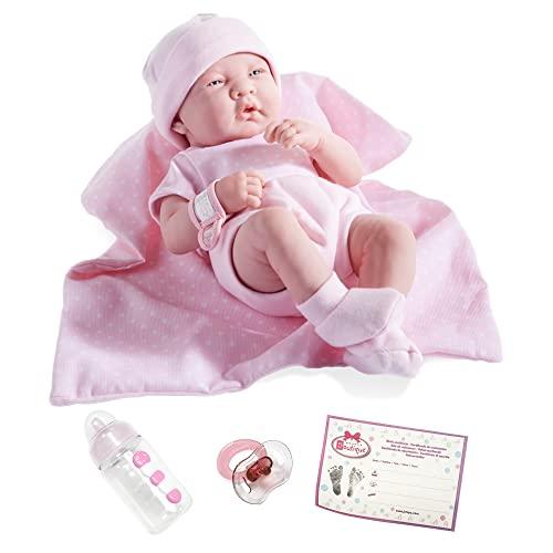 ジェーシートイズ 赤ちゃん おままごと ベビー人形 18541 JC Toys 18541 La Newborn Boutique 14 Inch Doll, 9 Piece Set, Real Girl in Pinkジェーシートイズ 赤ちゃん おままごと ベビー人形 18541