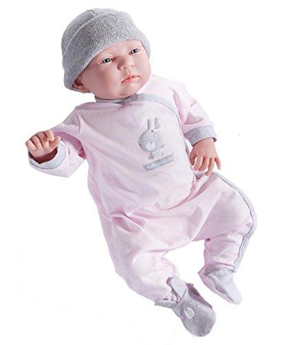 ジェーシートイズ 赤ちゃん おままごと ベビー人形 043657002621 JC Toys Doll with Tutto Piccolo Bunny Motif Outfit, Pink, 20
