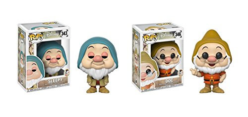 白雪姫 スノーホワイト ディズニープリンセス Funko POP! Disney's Snow White and the Seven Dwarfs Sleepy Dwarf and Doc Dwarf Toy Action Figure - 2 POP BUNDLE白雪姫 スノーホワイト ディズニープリンセス