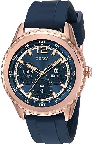 ゲス GUESS 腕時計 レディース C1002M2 GUESS Women's Stainless Steel Android Wear Touch Screen Silicone Smart Watch, Color: Blue (Model: C1002M2)ゲス GUESS 腕時計 レディース C1002M2