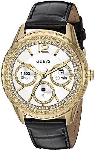 ゲス GUESS 腕時計 レディース C1003L2 【送料無料】GUESS Women's Stainless Steel Android Wear Touch Screen Leather Smart Watch, Color: Black (Model: C1003L2)ゲス GUESS 腕時計 レディース C1003L2