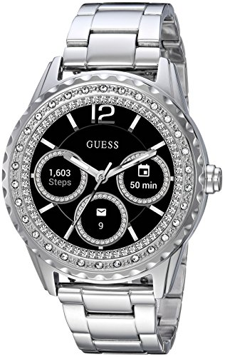 ゲス GUESS 腕時計 レディース C1003L3 【送料無料】GUESS Women's Connect Androidwear Touchscreen Watch with Stainless Steel Strap, Silver, 10 (Model: C1003L3)ゲス GUESS 腕時計 レディース C1003L3