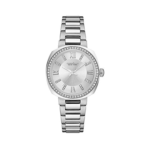 ブローバ 腕時計 レディース 43L195 【送料無料】Caravelle New York Women's Quartz Watch with Stainless-Steel Strap, Silver, 9 (Model: 43L195)ブローバ 腕時計 レディース 43L195