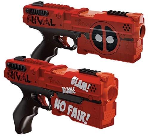 ナーフライバル アメリカ 直輸入 リフィル 銃鉄砲 Hasbro - Rival Deadpool Kronos XVIII-500 Blasters (2-Pack) - Red And Blackナーフライバル アメリカ 直輸入 リフィル 銃鉄砲
